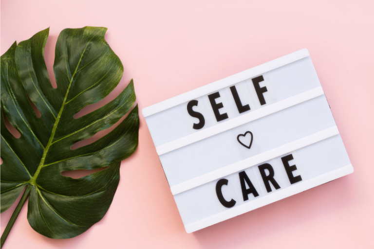 Self-Care Sign with Plants